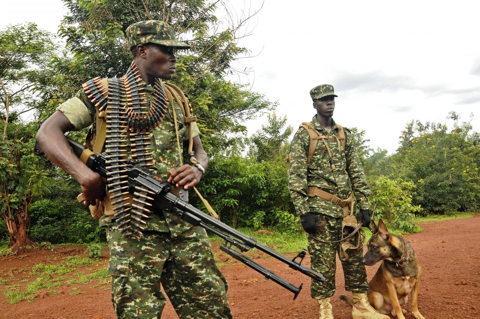 Ugandan troops in the CAR