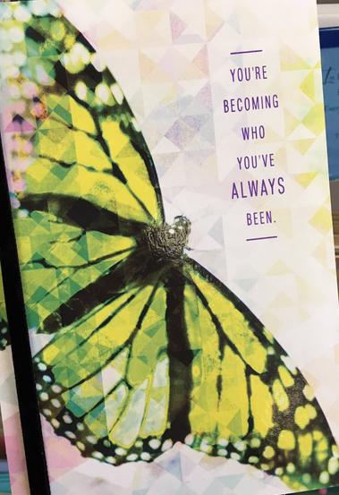 Transitioning card