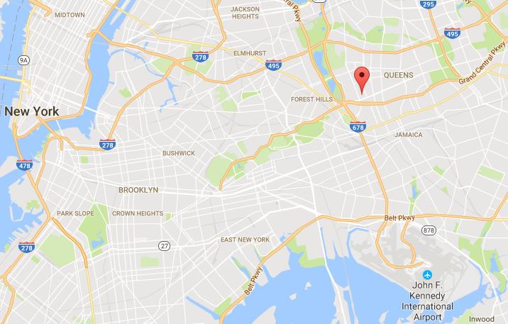 Queens New York map