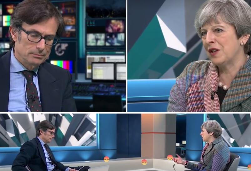 Robert Peston and Theresa May
