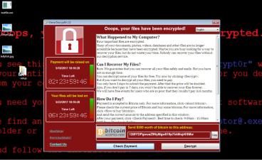 WannaCry ransom