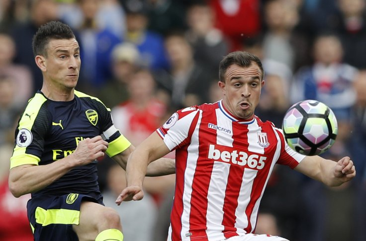 Laurent Koscielny and Xherdan Shaqiri