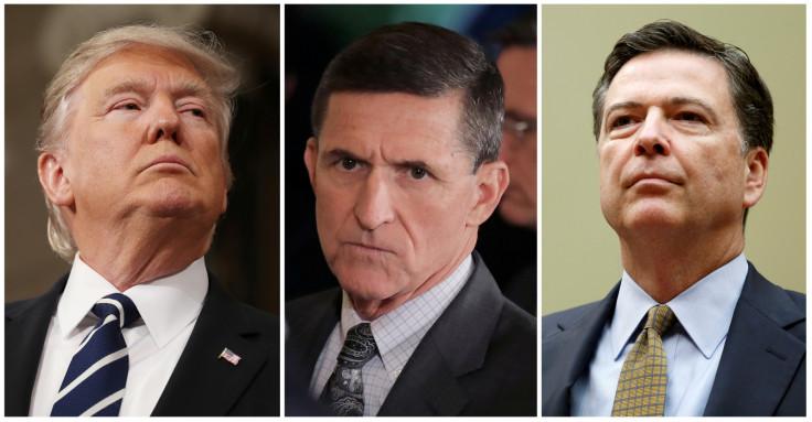 Trump, Flynn, Comey