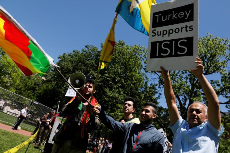 Kurdish supporters protest in Washington
