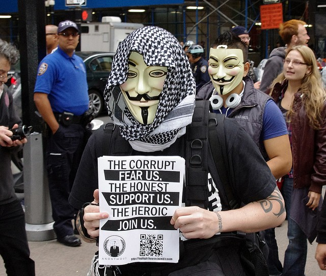 Occupy Wall Street Anonymous 2011