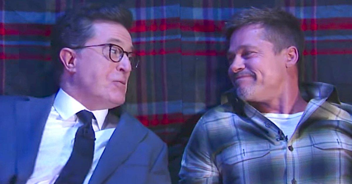 Brad Pitt and Stephen Colbert