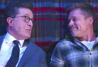 Brad Pitt and Stephen Colbert