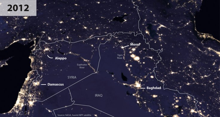 Nasa image Syria Iraq
