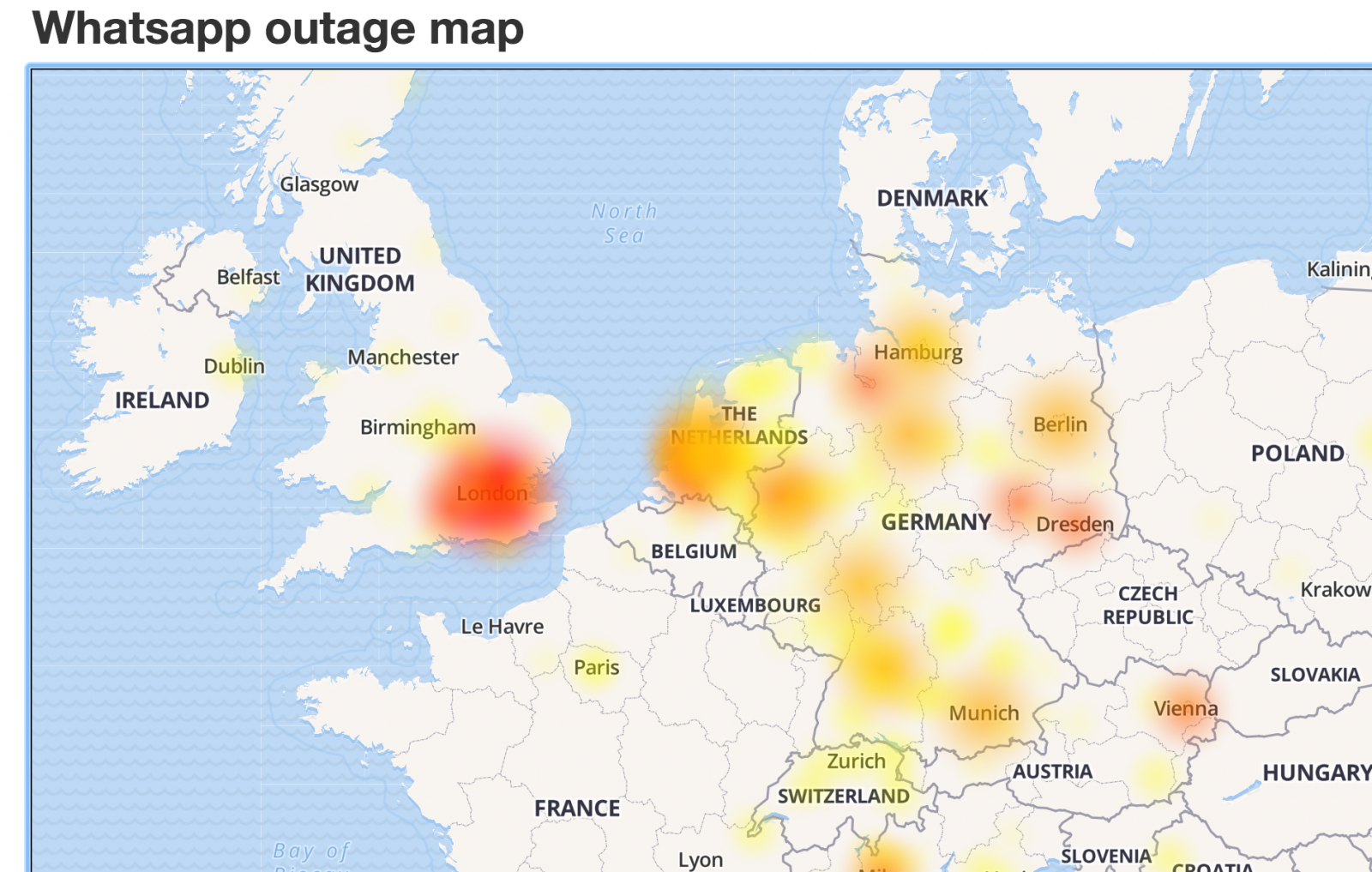 WhatsApp outage
