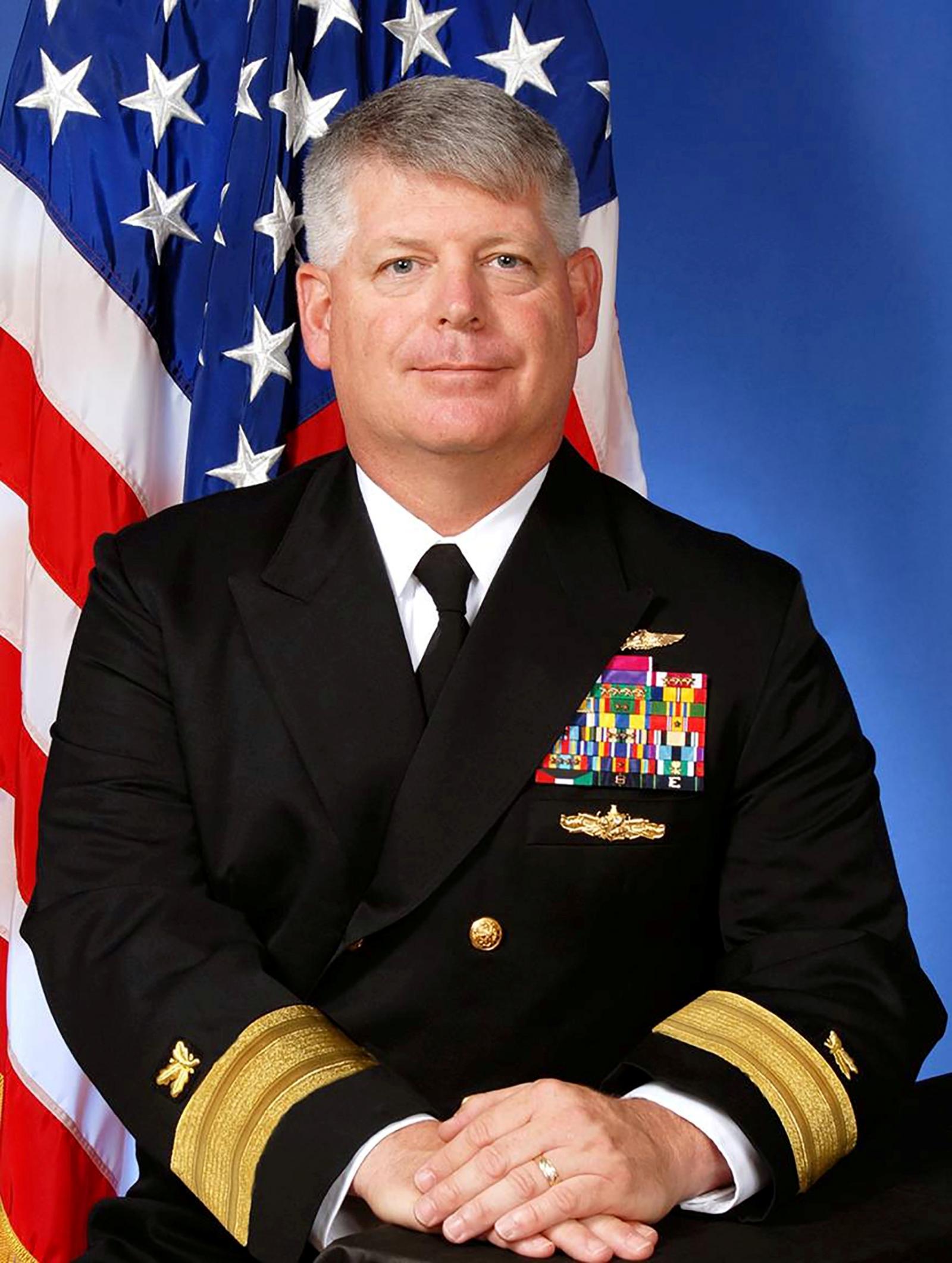US Navy Rear Admiral Robert Gilbeau