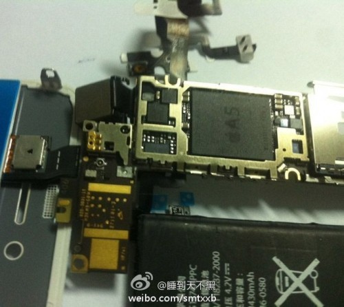 Leaked Image Suggests Presence of A5 Chip in Apple iPhone 5, 4S