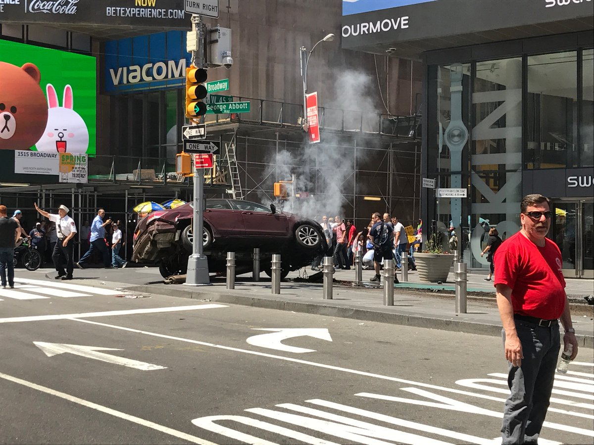 Car Drives Into Crowd In New York