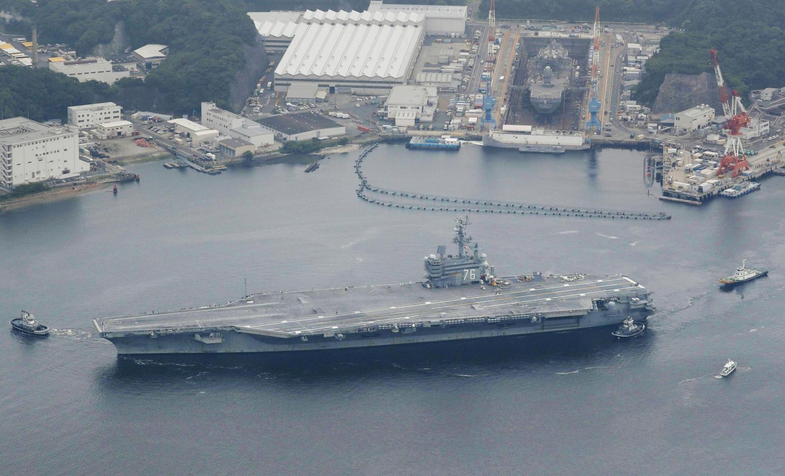 US navy strike group in Korean peninsula