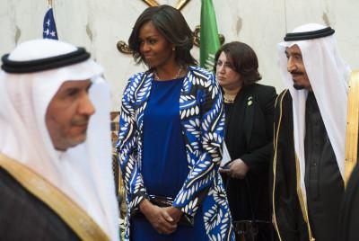Michelle Obama in Saudi Arabia