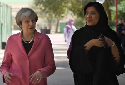Theresa May in Saudi Arabia