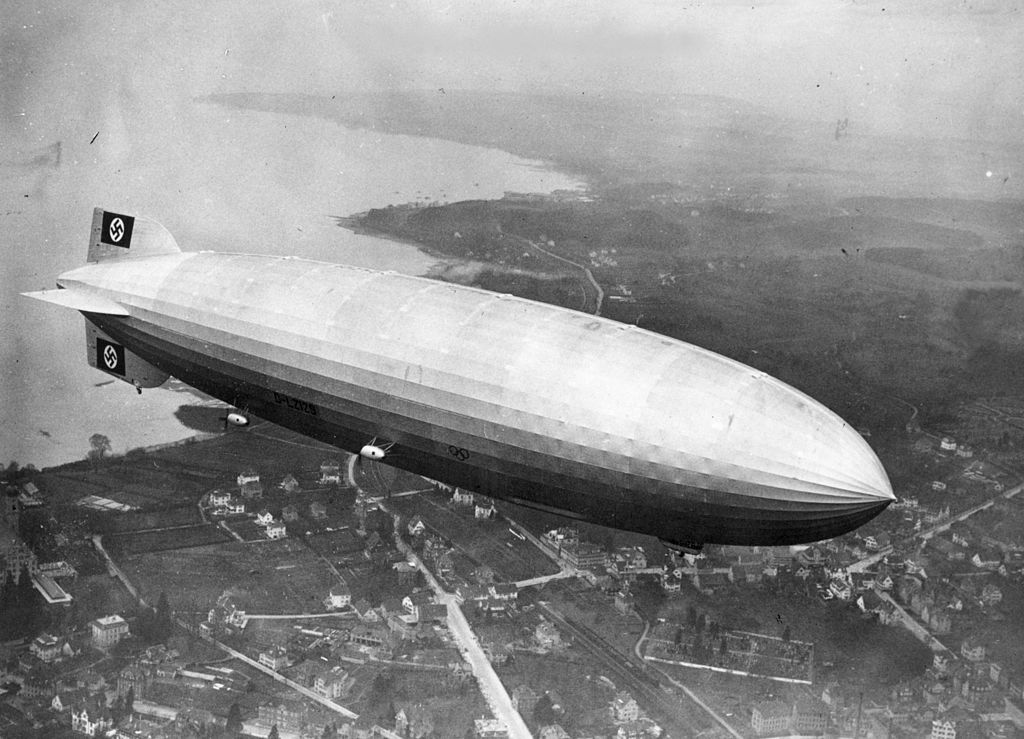 Hindenburg over New york