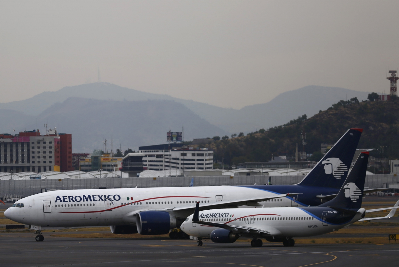 Aeromexico flight collides with utility truck