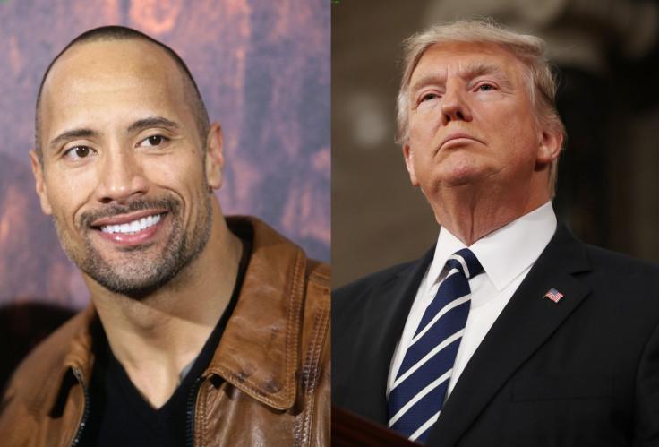 Dwayne Johnson and Donald Trump