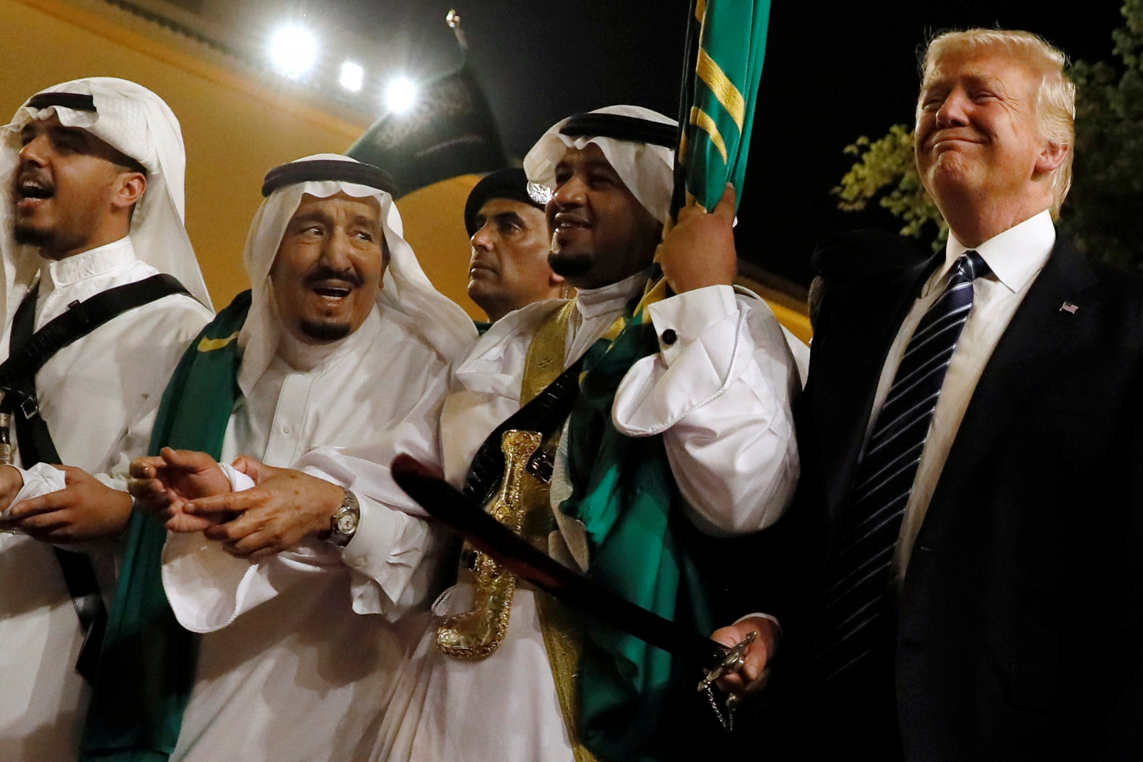 Trump sword dance