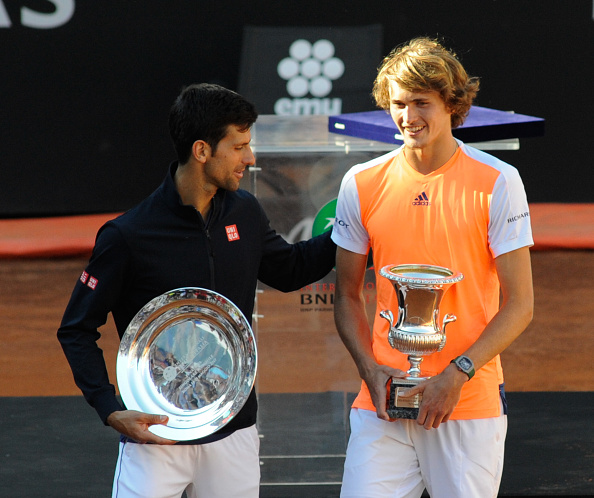 Novak Djokovic and Alexander Zverev