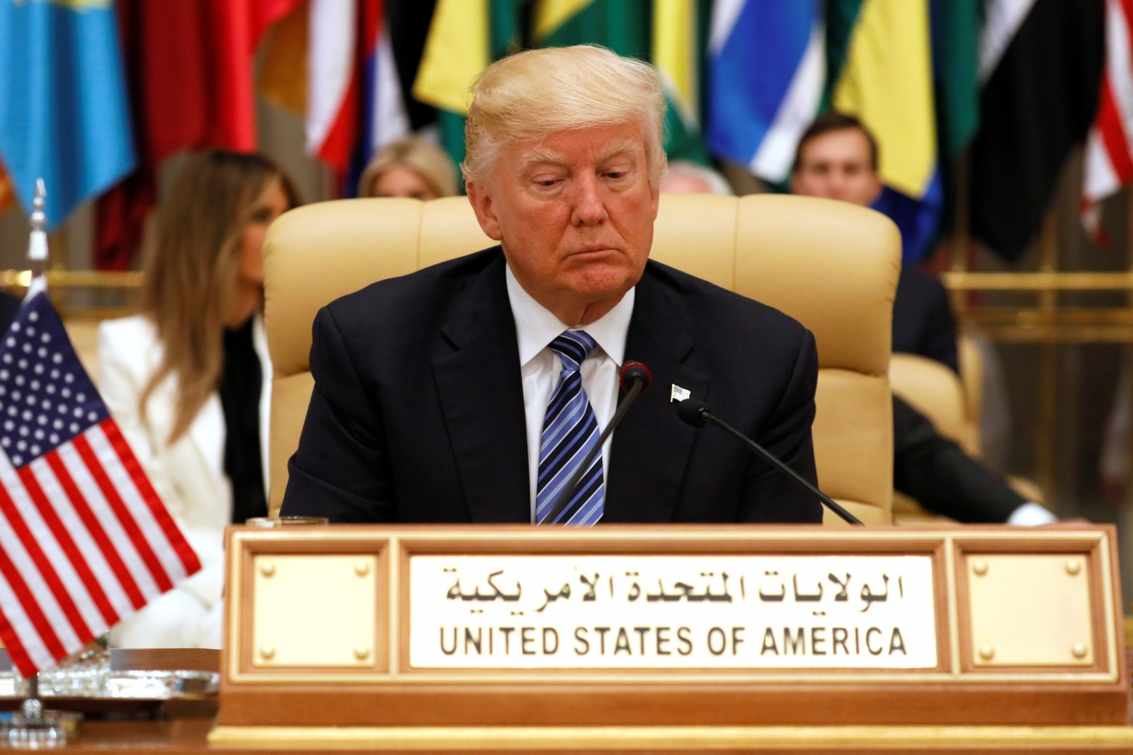 Trump urges Muslim leaders to 'drive out the terrorists'