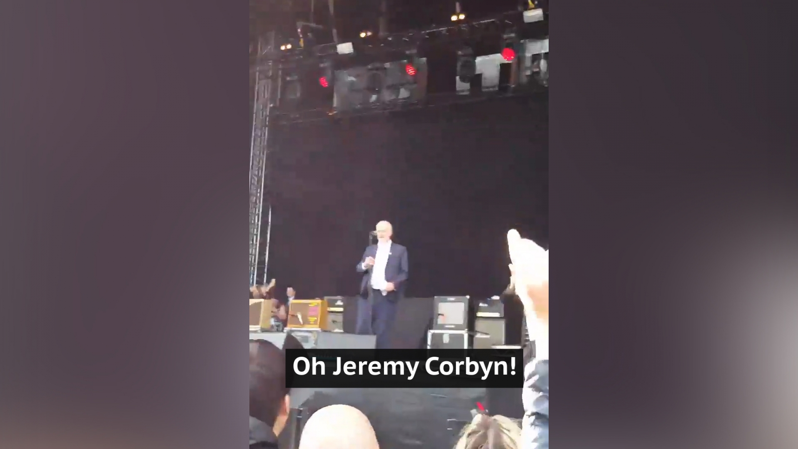 Jeremy Corbyn's surprise concert appearance whips up crowd at Libertines gig