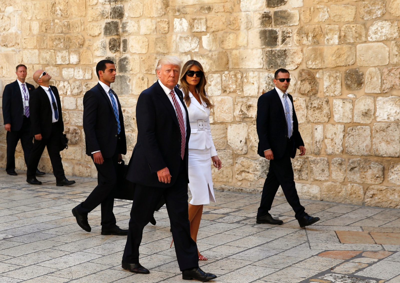 Donald Trump Melania Holy Sepulchre