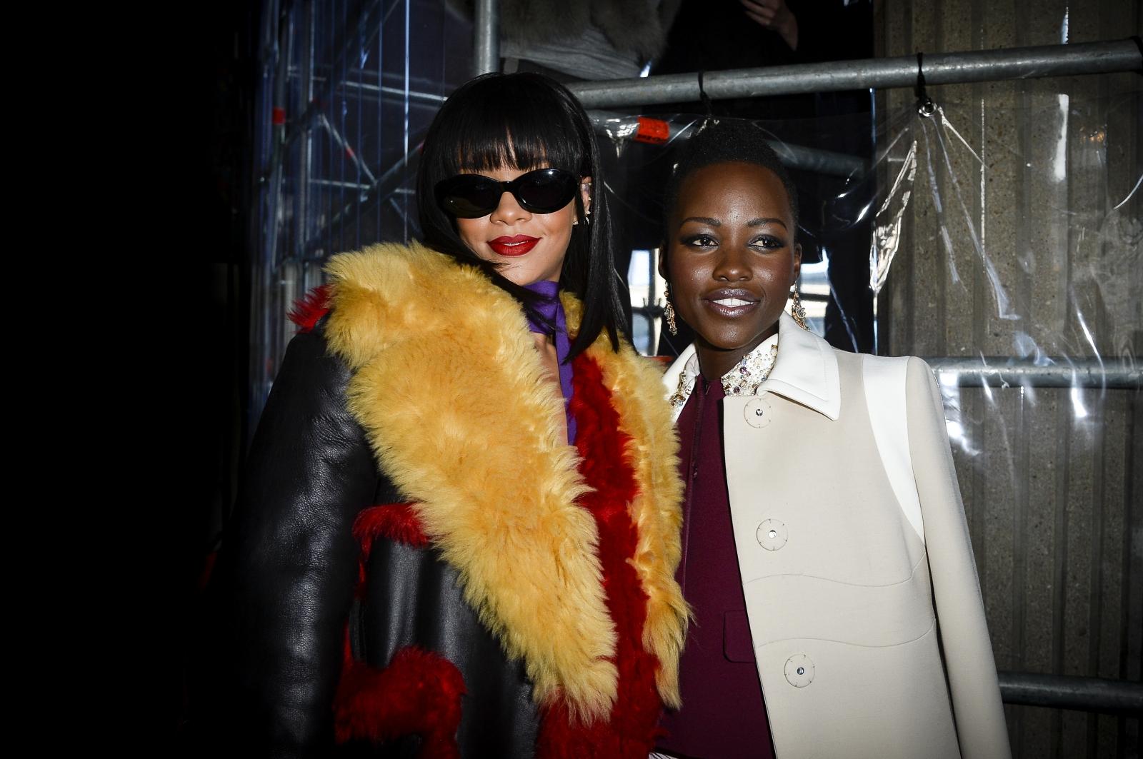 Rihanna and Lupita Nyong'o