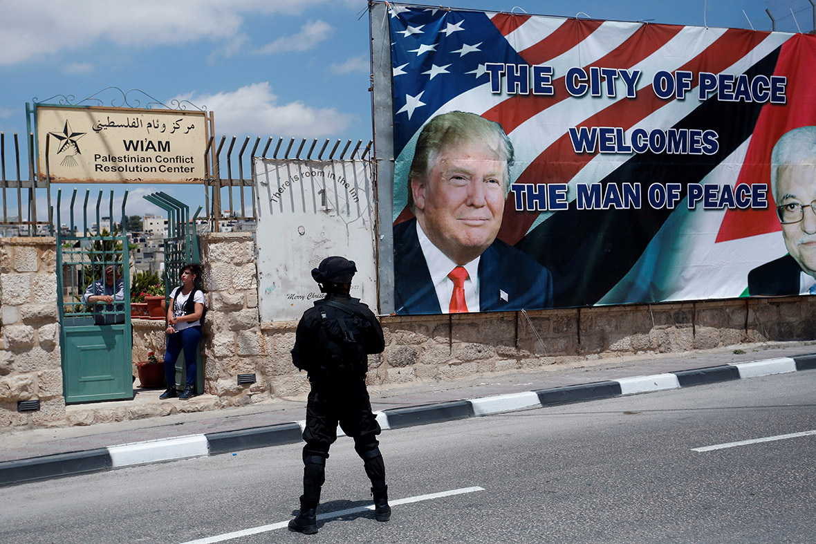 Donald Trump Bethlehem West Bank Palestinian