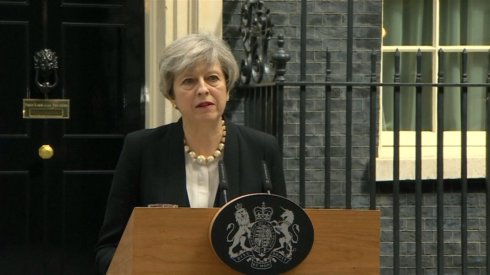 UK Prime Minister Theresa May condemns 'callous terrorist attack' in Manchester
