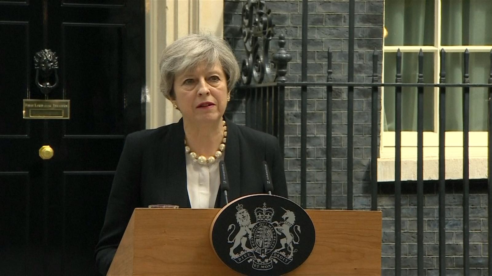 U.K. Prime Minister May Condemns 'Callous Terrorist Attack' In Manchester