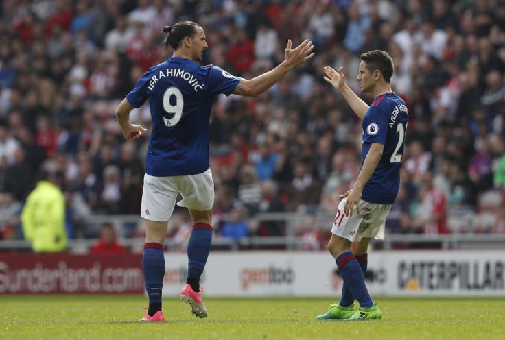 Zlatan Ibrahimovic and Ander Herrera