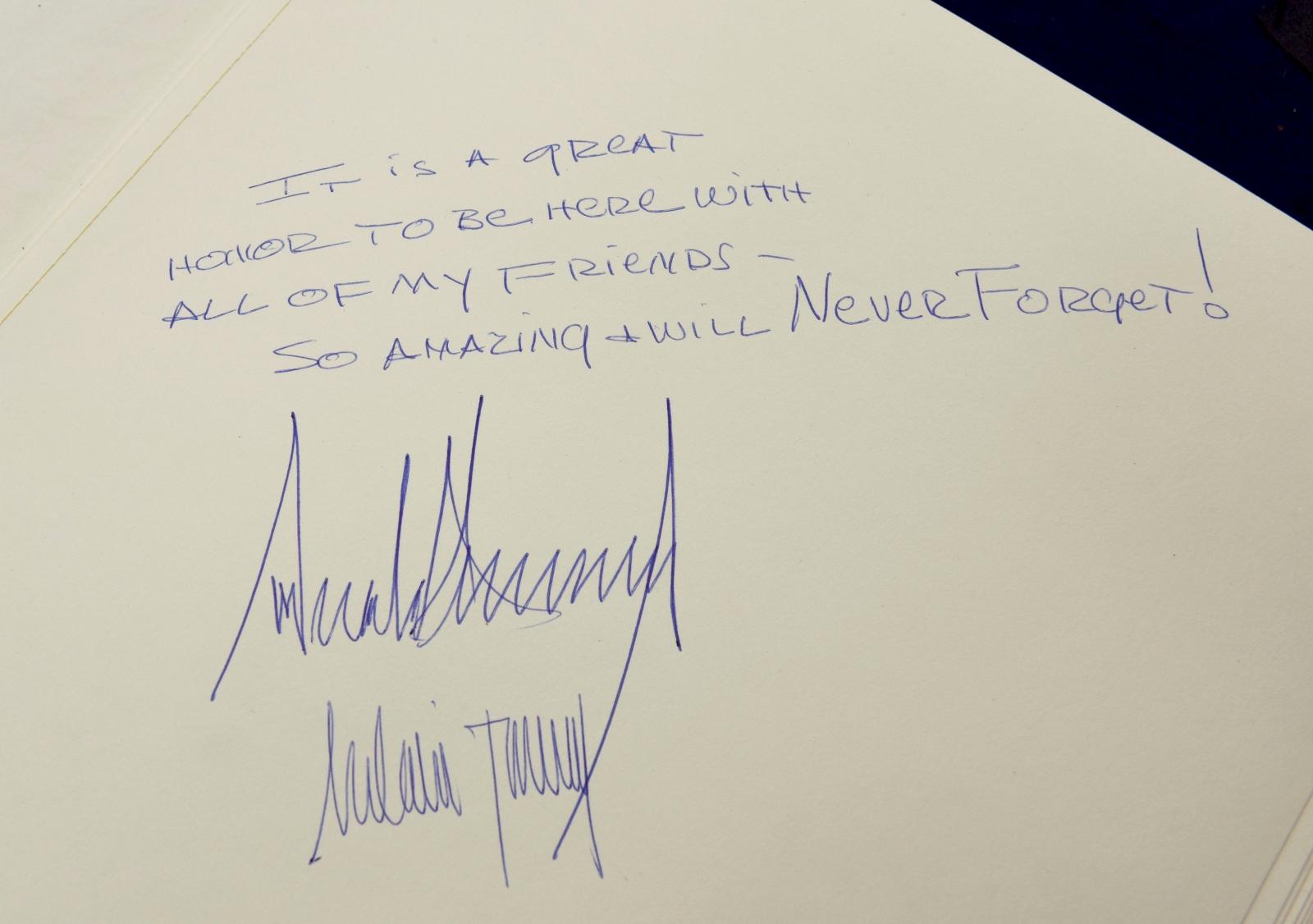 Donald Trumps message at Yad Vashem
