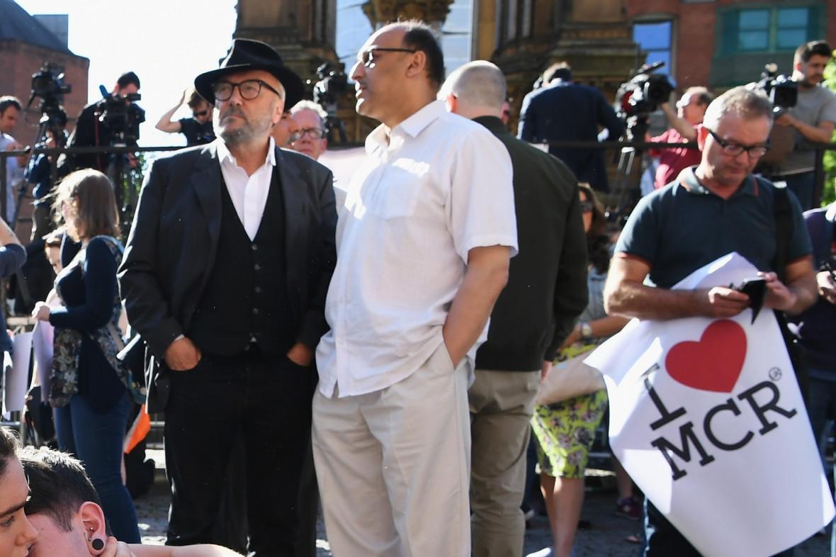 Manchester bombing vigil George Galloway