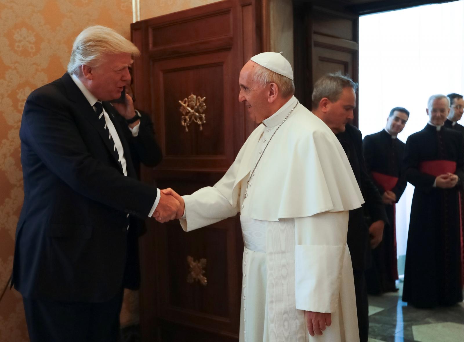 Donald Trump meets Pope Francis