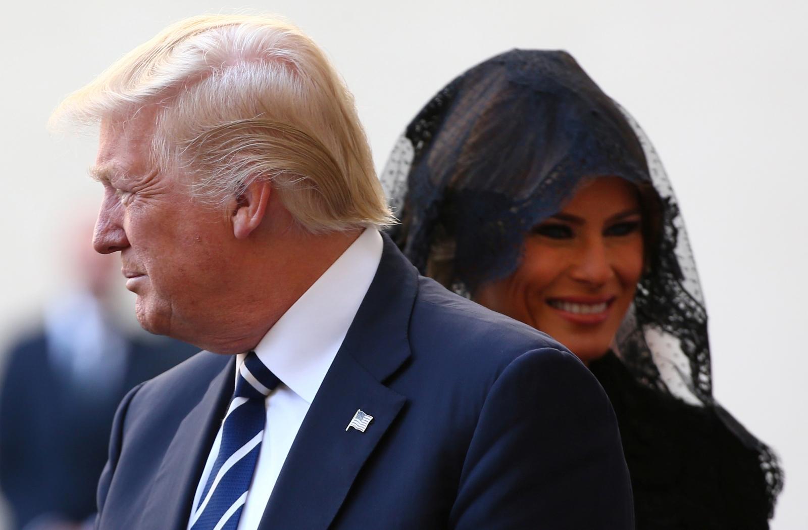 Donald and Melania Trump Vatican