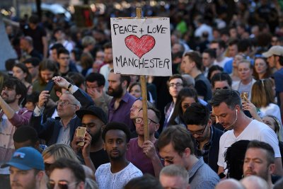 Manchester Arena bomb mourning