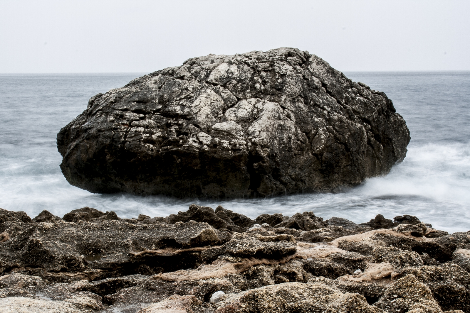 'Floating rock'