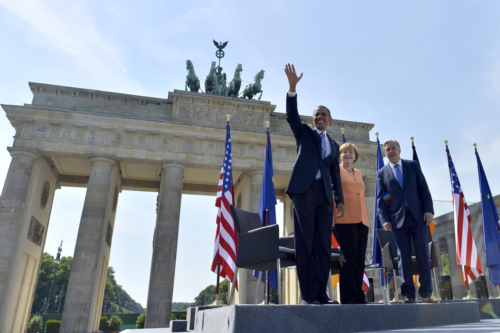 Barack Obama in Berlin, Brandenburg Gate