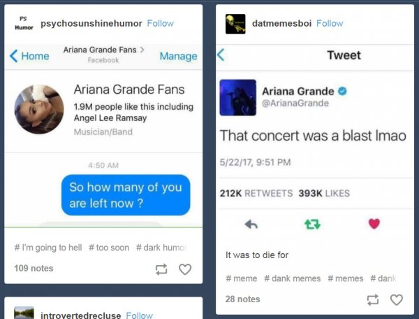 Ariana Grande posts doctored by trolls