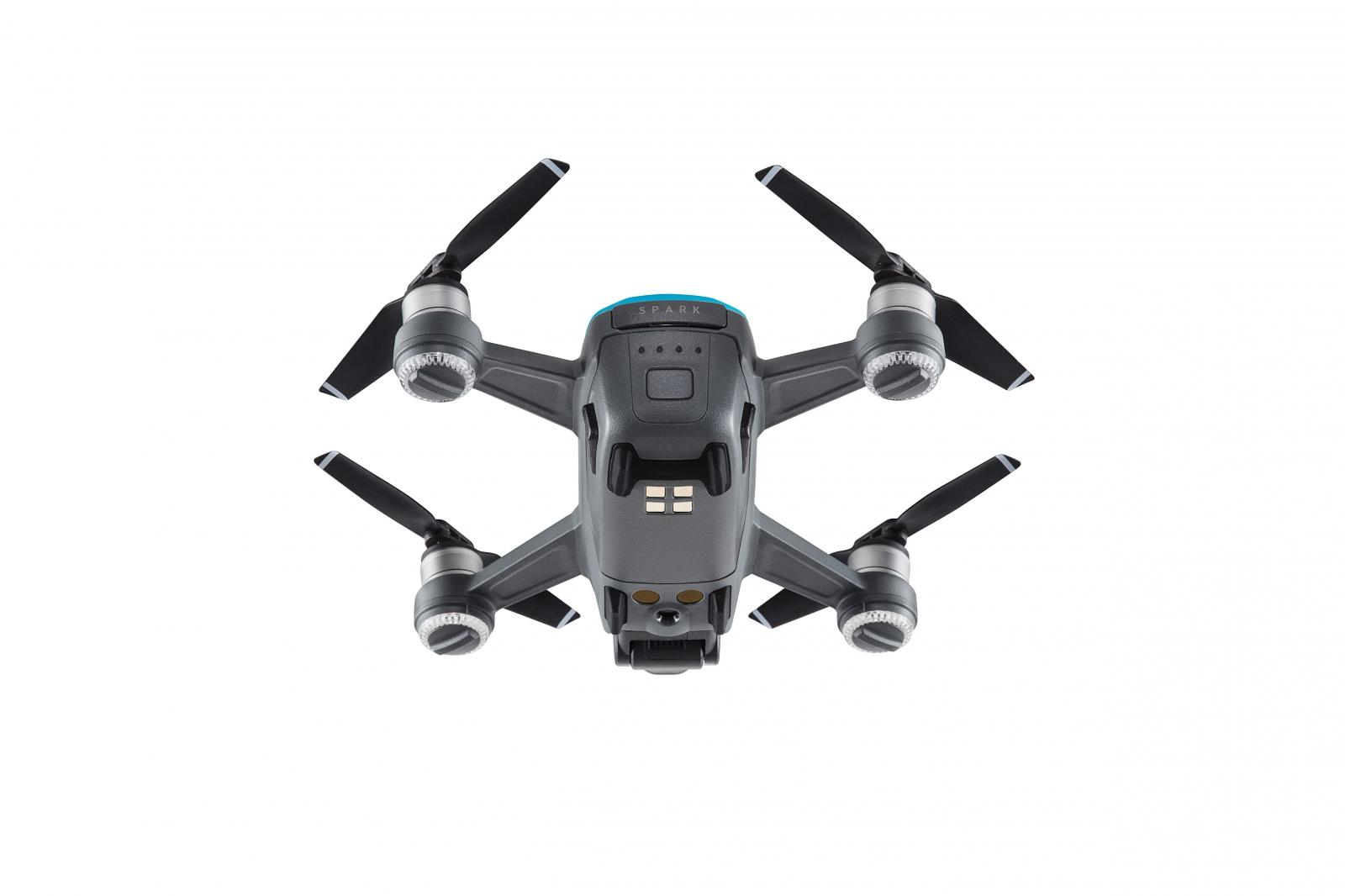 DJI Spark drone base in blue