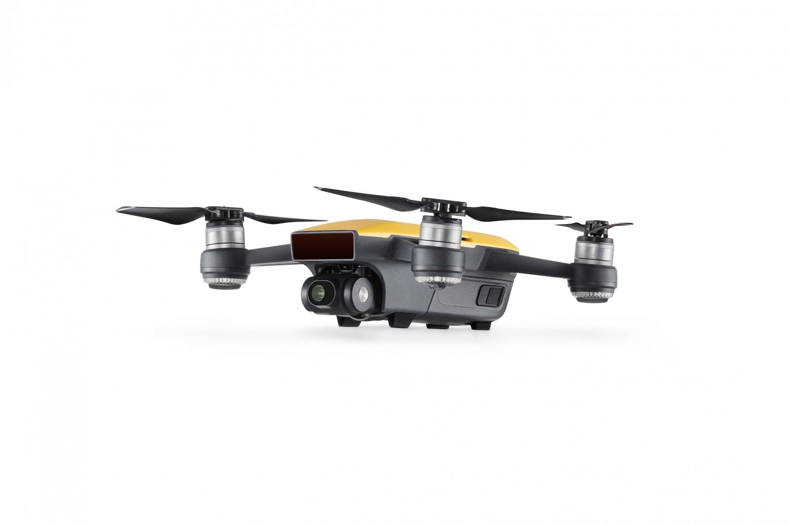 DJI Spark drone in yellow