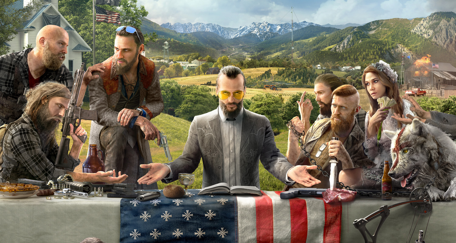 Far Cry 5 art villains