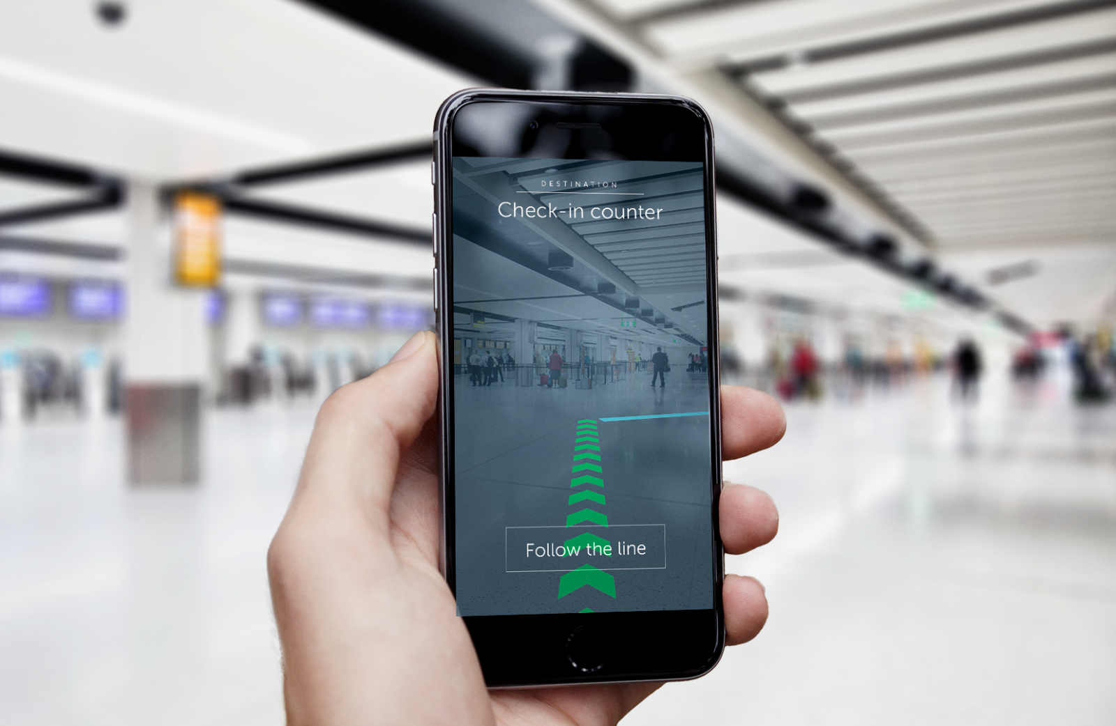 Gatwick Airport augmented reality navigation system