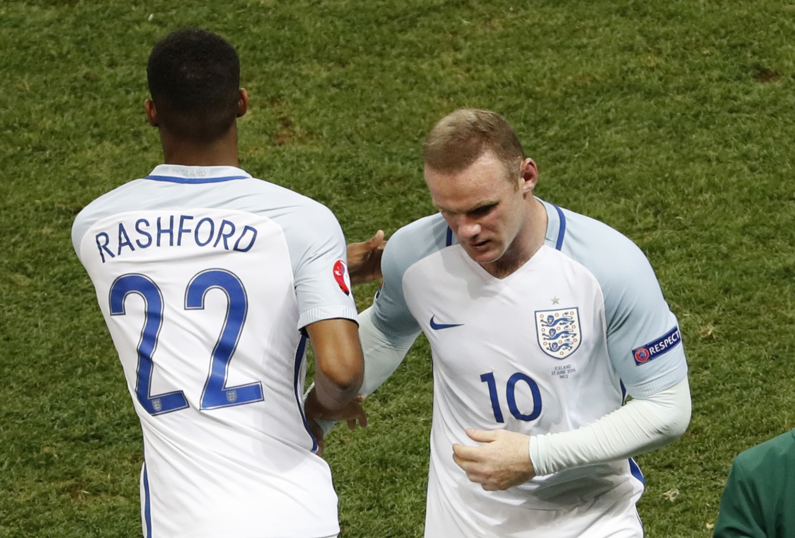 Marcus Rashford and Wayne Rooney