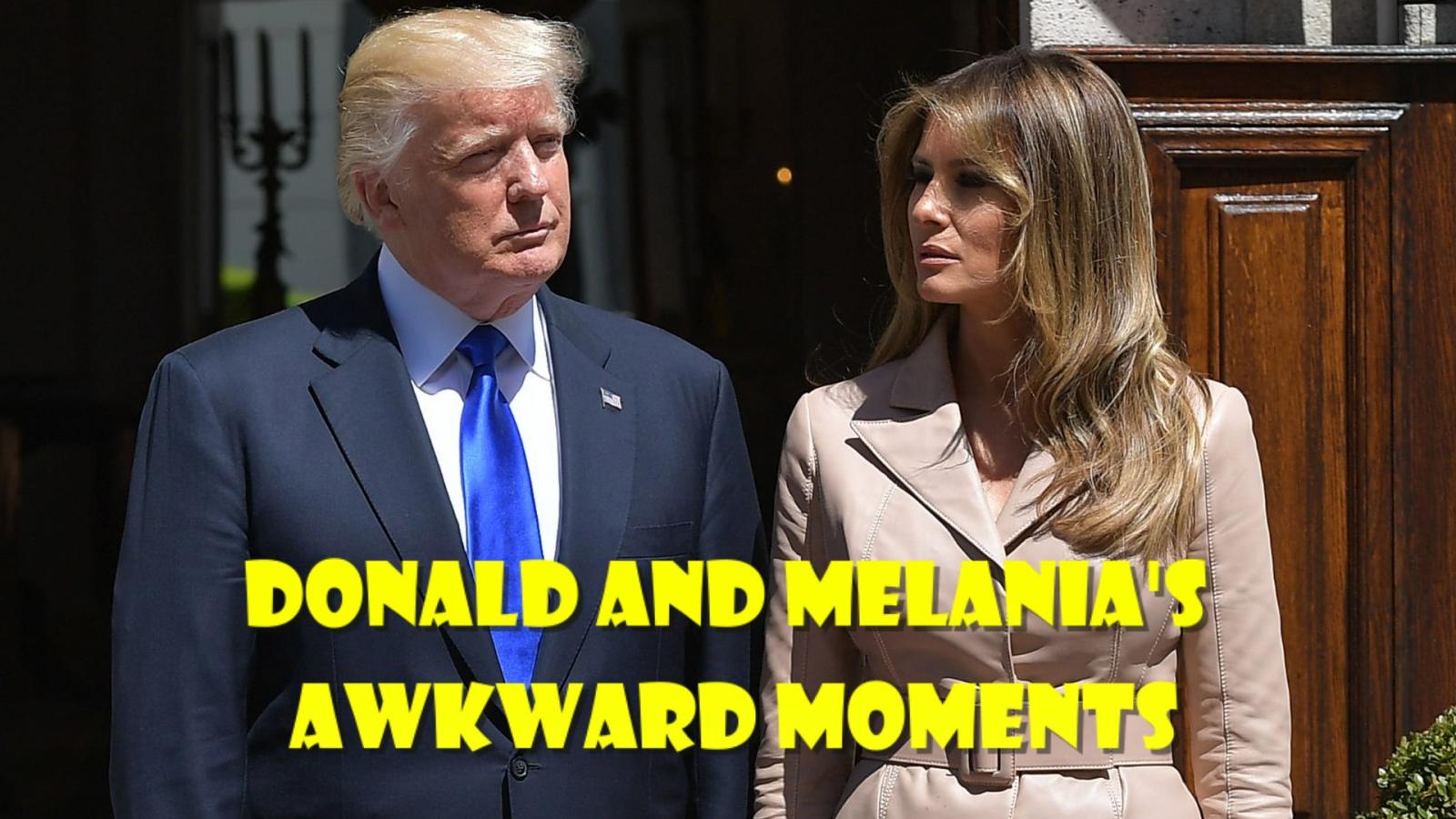 watch-donald-and-melanias-awkward-moments