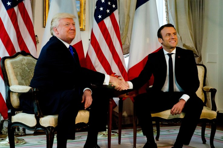 Donald Trump Finally Meets His Hand Shake Match In Emmanuel Macron