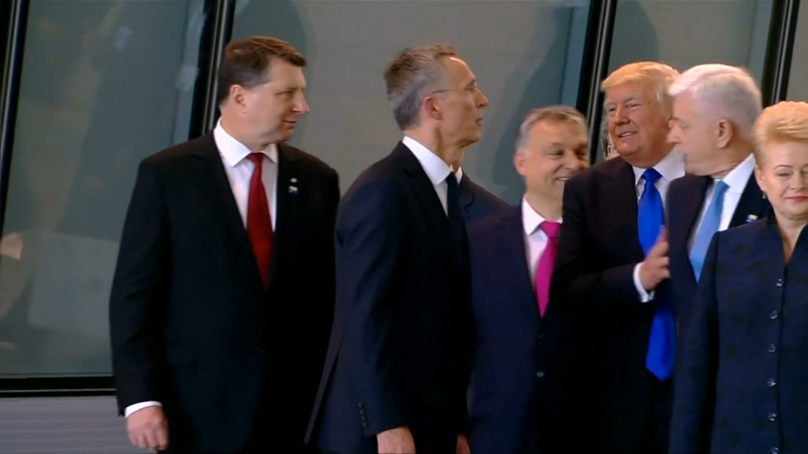 trump-shoves-fellow-nato-leader-aside-on-his-first-summit