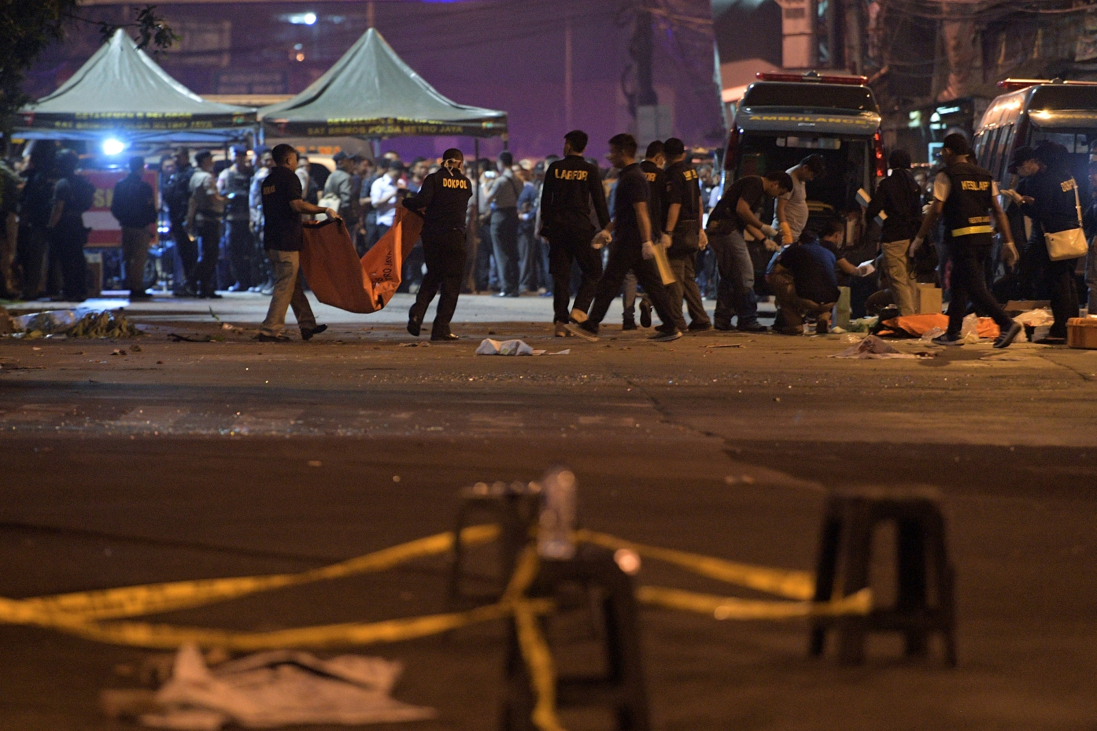 Three officers killed in Jakarta bus terminal bombing