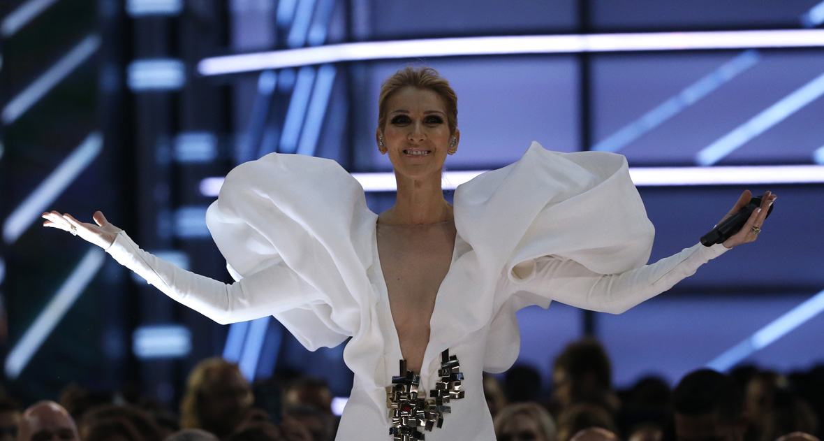 Celine Dion waves off security and handles stage invader